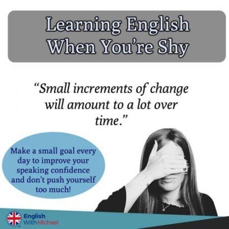 Learn English when you're shy