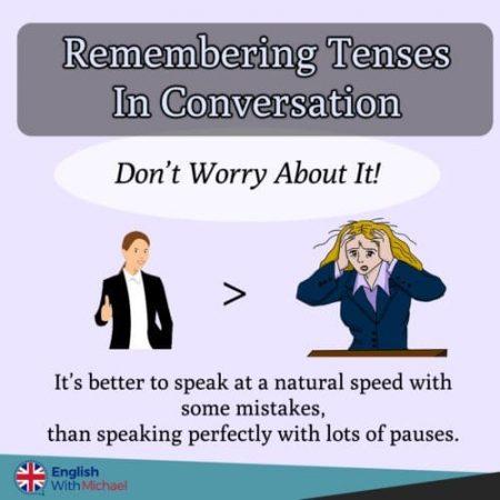 Remembering Tenses in Conversation