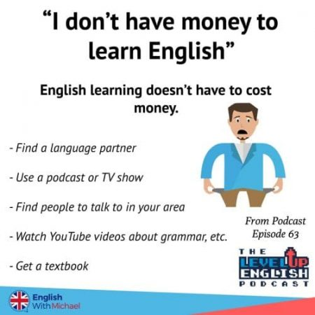No Money to learn English